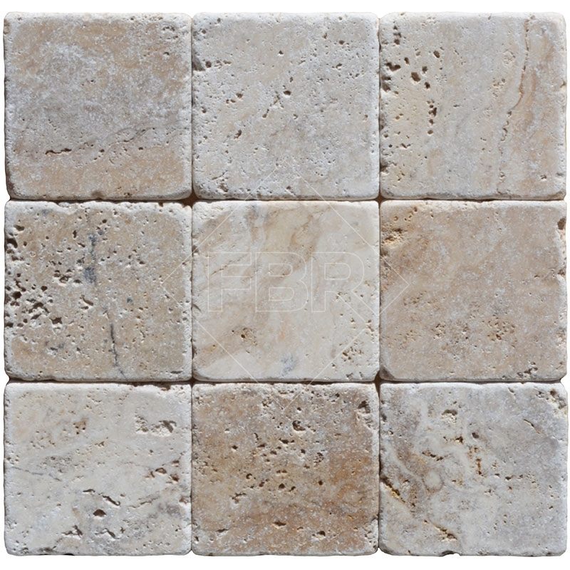 what is tumbled travertine tile